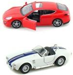 Kinsmart Cars, Trains & Bikes Kinsmart Porsche Panamera and Shelby Cobra