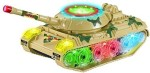 ToyZe Push & Pull Along ToyZe Bump And Go Military Tank For Kidswith Lights And Real