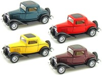 I-Gadgets Kinmsart Pack Of 4 Ford 1932 Coupe (Red, Yellow, Green, Burgundy)