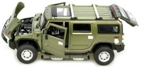 A Smile Toys & More Hummer Die Cast With Sound And Inbuilt Hid (Green)