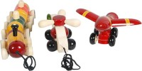 Mnc Combo Of(Train+Aeroplane+Helicopter) (Multicolor)