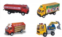 Centy Combo Of 4 DCM Tanker Freight Carrier Mobile Bank Excavator (Multicolor)