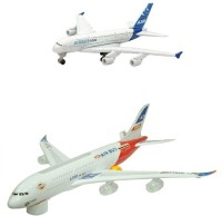 Shop & Shoppee Combo Of Battery Operated Airbus Plane(Big,Small) (White)