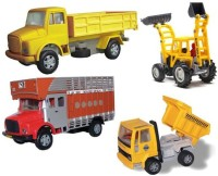 A R Enterprises Combo Of Constuction Vehicles 2 (Multicolor)