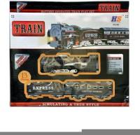 Turban Toys Battery Operated Black Train With Headlight (Black)