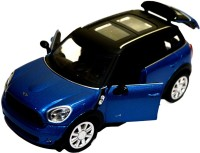 Sunny Mini Cooper S Die-Cast Collectible Toy Vehicle (Blue, Black, Silver)