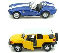 Kinsmart Toyota FJ Cruiser And Shelby Cobra Mini Models (Multicolor)