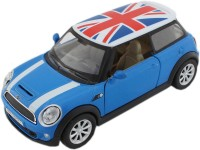 Tootpado Sports Model Metal Toy Car With Pull Back Mechanism - Blue - (1c349) Playing Cars For Kids Mini Cooper (Blue)