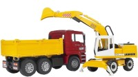 Bruder Man Tga Construction Truck And Liebherr Excavator (Multicolor)