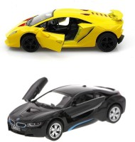 Kinsmart Bmw I8 And Lamborghini Sesto Mini Model (Multicolor)