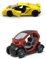 Kinsmart Lamborghini Sesto And Renault Twizy Mini Model (Multicolor)