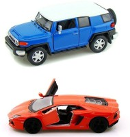 Kinsmart Toyota FJ Cruiser And Lamborghini Aventador Mini Model (Multicolor)