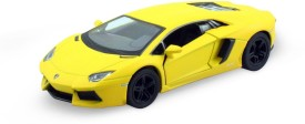 Mayatra's Kinsmart Matte Yellow Lamborghini Die Cast Car