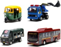 A R ENTERPRISES CENTY COMBO OF 4 TOY VEHICLES (MULTICOLOR)