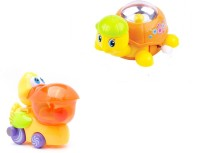 AV Shop Combo Of 2 Big Mouth Duck & Naughty Turtle Wind Up Toys (Multicolor)