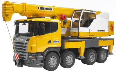 Buy Bruder Scania R-Series Liebherr Crane Truck: Vehicle Pull Along