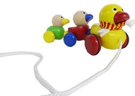Wonderworld Duck Family Wooden Pull-Along Toy