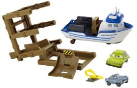 Mattel Cars 2 Agents Crab Boat Playset With 2 Character Cars