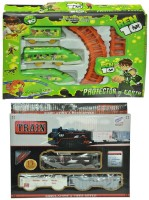 Shop & Shoppee Combo Of Battery Operated Train (Green, Black)