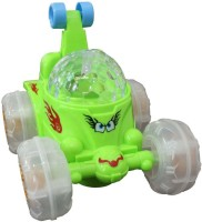 Turban Toys 360 Degree Rotating Dancing Car With Music & Sound (Green)