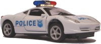 AdraxX 1:32 Scale Collector's Die Cast Police Car Model (White)