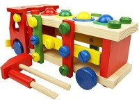 Mandydov Wooden Disassembly And Assembly Screw Truck For Kindergarten Garden Fun Early Education Toy (Multicolor)