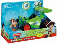 Fisher-Price Little People Disneys Toy Story Rc And Woody (Multicolor)