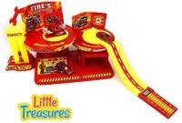 Little Treasures Fire Alarm Repair Shop Toy Play Set (Multicolor)