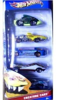 Hotwheels Creature Cars Pack Of 5 (Multicolor)