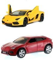 I-Gadgets Kinsmart Lamborghini Urus And Aventador Rd (Red, Yellow)