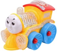 Impex Funny Loco Musical Toy Train With Flashing Lights, Bump And Go Action (Multicolor)