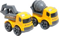 HAPPY KIDS FRICTION POWER CONSTRUCTION TRUCKS (YELLOW-1)