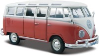Bburago Volkswagen Van Samba Diecast Model Car (Red, Black)
