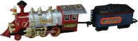 AdraxX Red Steam Engine Train Toy With Tracks (Red)