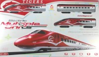 Littlegrin Tiger Metro Bullet Train Set With Tracks 1:108 Scale Toy For Kids (Multicolor)
