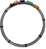Turban Toys Battery Operated Light Sound Smoke ChooChoo Classical Train Track Set For Kids (Multicolor)
