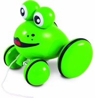 Vilac Push And Pull Baby Toy, Youpla The Frog (Multicolor)