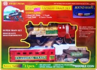 Smart Picks Battery Operated With Smoke Engine Western Express Train Set (Multicolor)