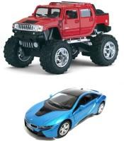I-gadgets Kinsmart Monster Hummer H2 SUT And BmW I8 Blue (Red, Blue)