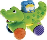 Fisher-Price Press & Go Crocodile Toy (Multicolor)