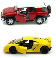 Kinsmart Toyota Fj Cruiser And Lamborghini Sesto Mini Models (Multicolor)