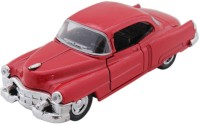 Tootpado Vintage Model Metal Toy Car With Pull Back Mechanism - Red - (1c383) (Red)