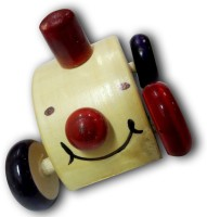 DCS Wooden Car Push Toy (Multicolour)