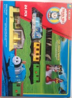 Meeras Battery Opearated Thomas And Friends Train Set 24pc With Tracks And Wagons (Red, Black)