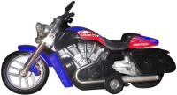 Smart Picks High Performance Bike Blue Diecast Metal With Music (Multicolor)