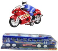 Turban Toys Combo Of Friction Bike & Friction Train For Kids (Multicolor)