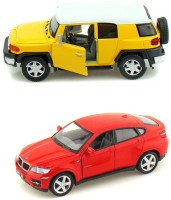 Kinsmart Toyota Fj Cruiser And Bmw X6 Mini Model (Multicolor)