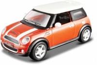 Maisto Power Kruzerz 4.5 Inch Pull Back Action - Mini Cooper S Diecast Model Car (Orange)