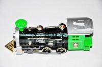 Ruppiee Shoppiee Sonic Locomative Metal Train Green (Green/Black)