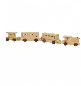 Craftatoz wooden train set toy